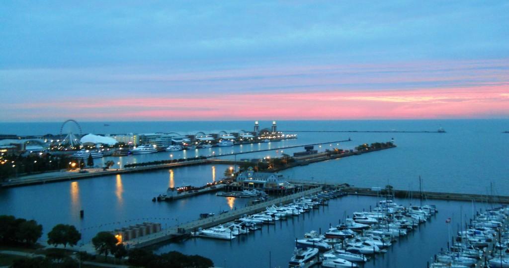 Monroe Harbor and Navy Pier