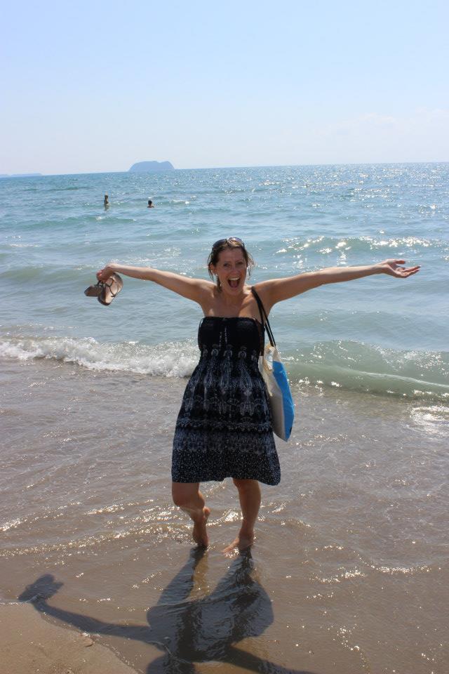 Isabelle on Kalamaki beach
