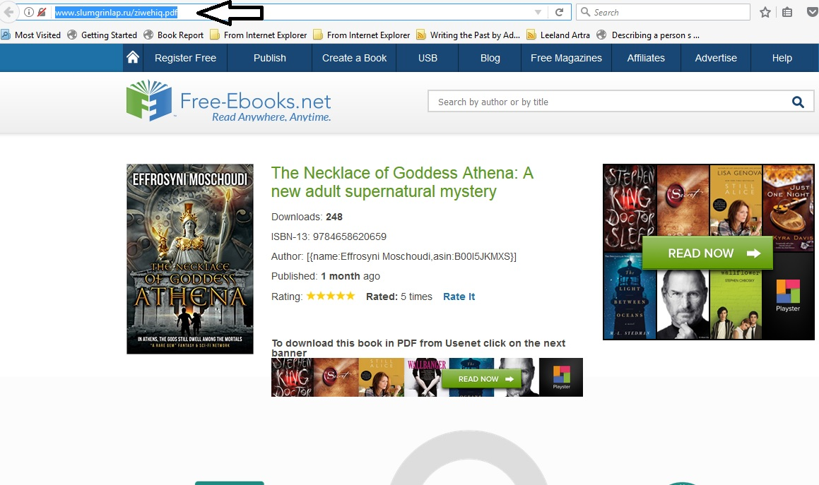 Author tips this one actually pretends to be the legitimate site free ebooks but of course the actual link says otherwise fandeluxe Image collections